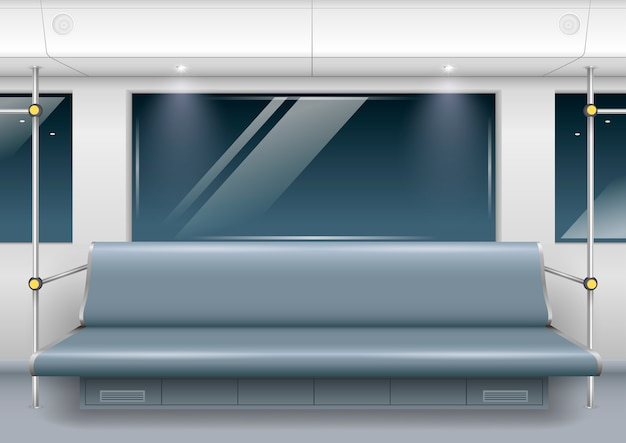 Interior do carro do metrô
