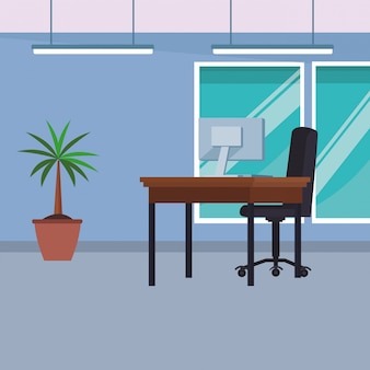 Interior do escritório de negócios