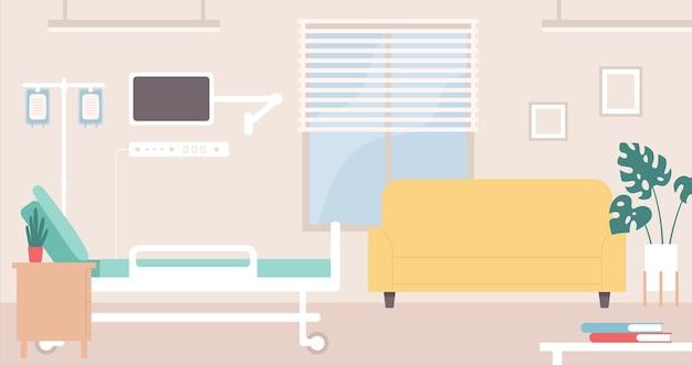 Interior do quarto de hospital