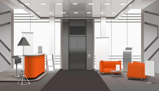 Interior do saguão realista