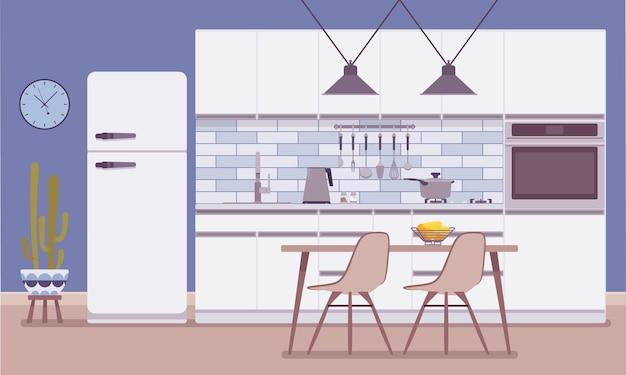 Interior e design da sala da cozinha
