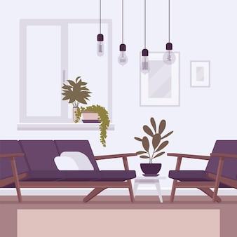 Interior e design da sala de estar
