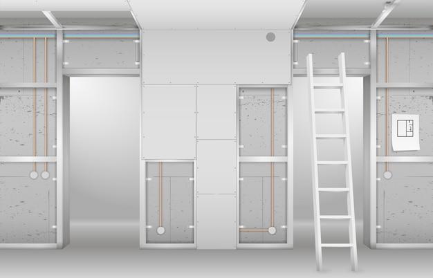 Interior em construção