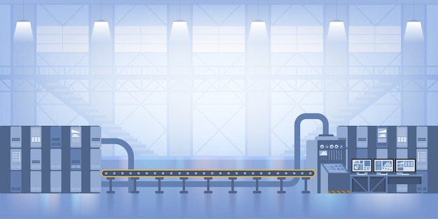 Interior industrial. fábrica inteligente. indústria