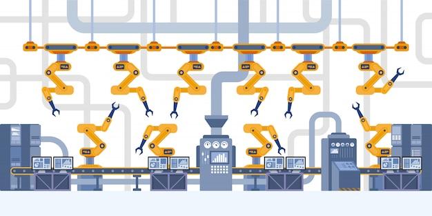 Interior industrial. fábrica inteligente.
