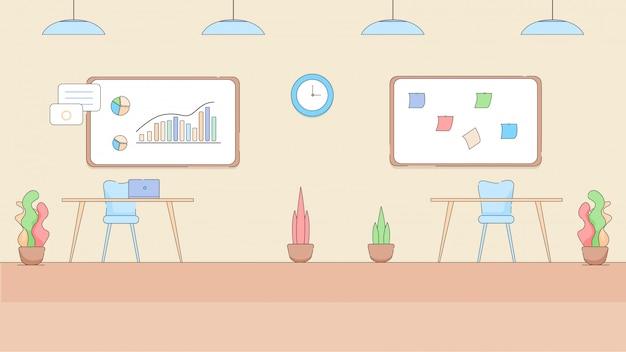 Interior vazio moderno do escritório no estilo alta tecnologia.