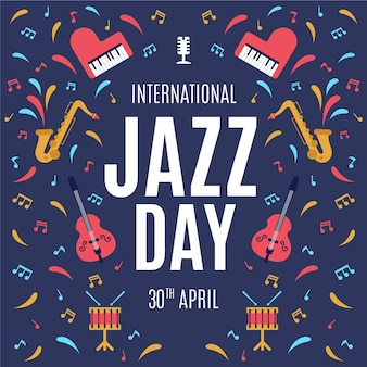 Internacional de design plano - um dia de jazz