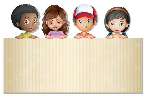Internatinal crianças no banner