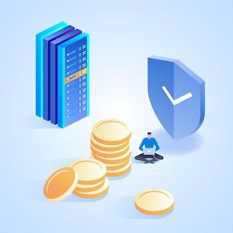Internet banking. transação de segurança de pagamento online.