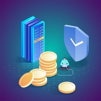 Internet banking transação de segurança de pagamento online