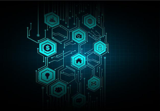 Internet das coisas cyber tecnologia circuito