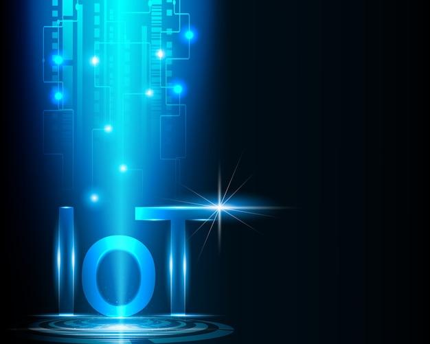 Internet das coisas (iot) conceito de tecnologia de dados.