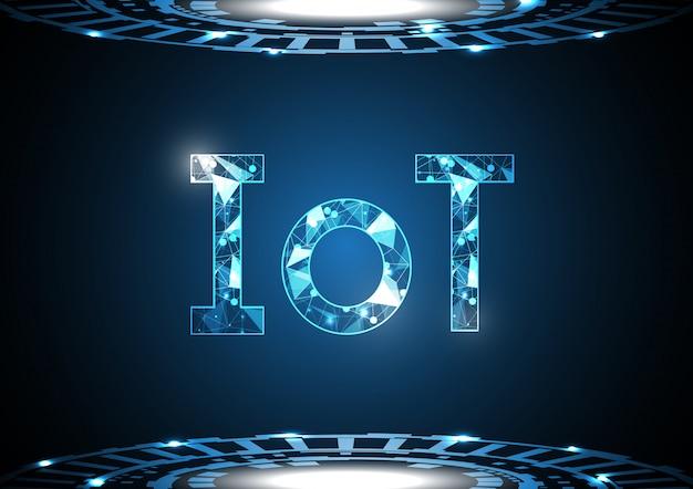 Internet das coisas tecnologia abstrato círculo plano de fundo