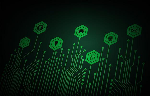 Internet das coisas tecnologia de circuito cibernético