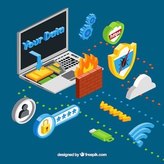 Internet de coisas com laptop