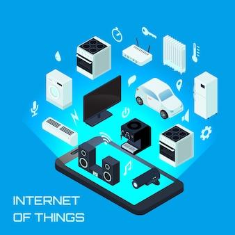 Internet do conceito de design urbano de coisas