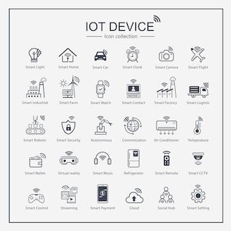 Internet do conjunto de ícones de coisas