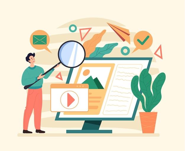 Internet online web siter pesquisando flat