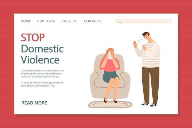 Interromper a página de destino da violência doméstica