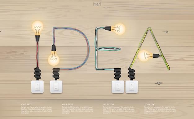 Interruptor de bulbo da ideia da tecnologia da inovação do vintage