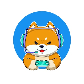 Inu shiba underdog gamer