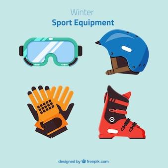 Inverno equipamento desportivo