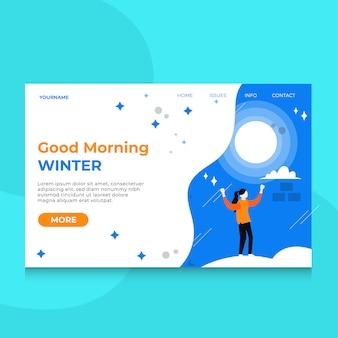 Inverno especial da página de destino