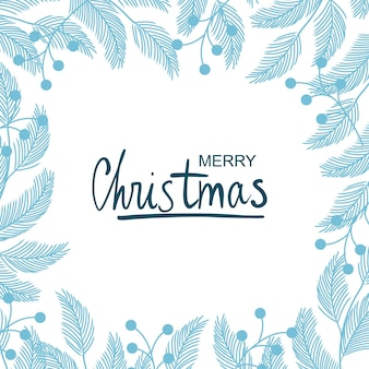 Inverno fabuloso. ilustração do quadro de plantas de natal. desenho para um cartão postal, cartaz, plano de fundo.