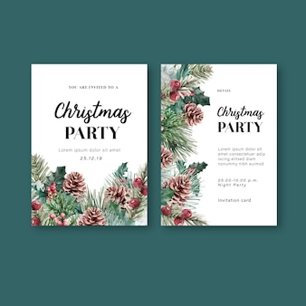 Inverno floral desabrochando elegante cartão de convite de casamento para decoração vintage lindo