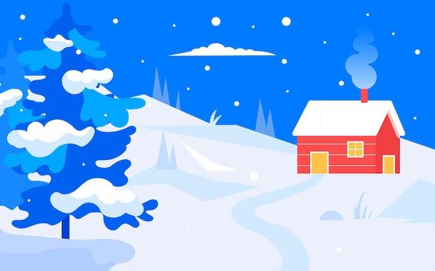 Inverno neve cena solar termos ilustração inverno personagem cartaz evento ao ar livre