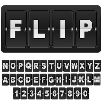 Inverta números e letras do relógio do calendário digital de contagem regressiva.