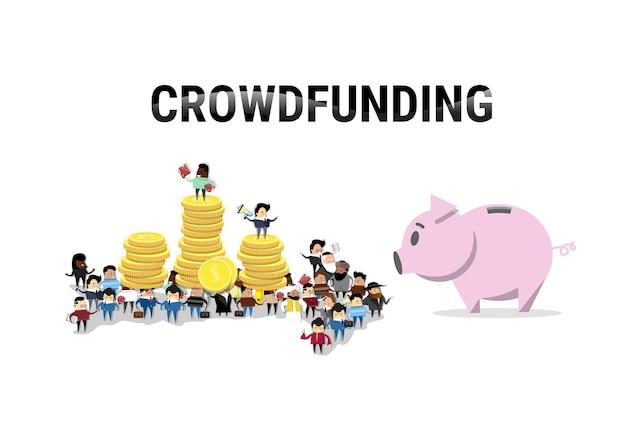 Investidor de dinheiro de investimento de grupo de pessoas de negócios