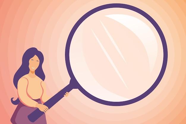 Investigação abstrata encontrando pistas, buscando respostas conceitos, pesquisando novas ideias, desenhos coloridos, procurando inspecionando verificando imagem, busca focada