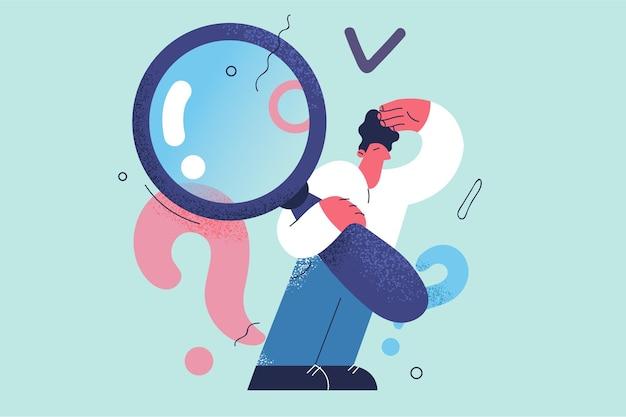 Investigação, consulta, conceito de perguntas frequentes