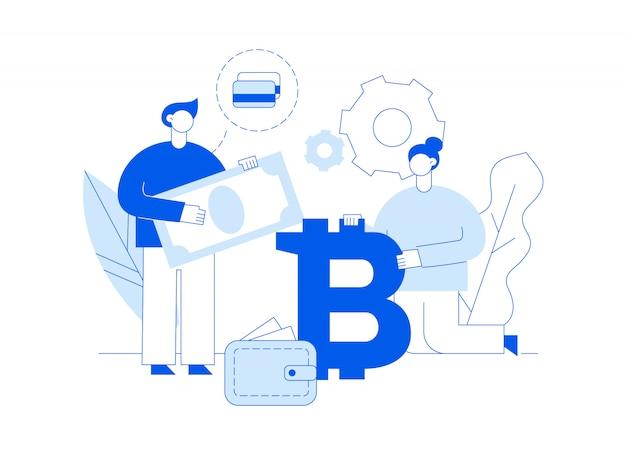 Investimento bitcoin vector