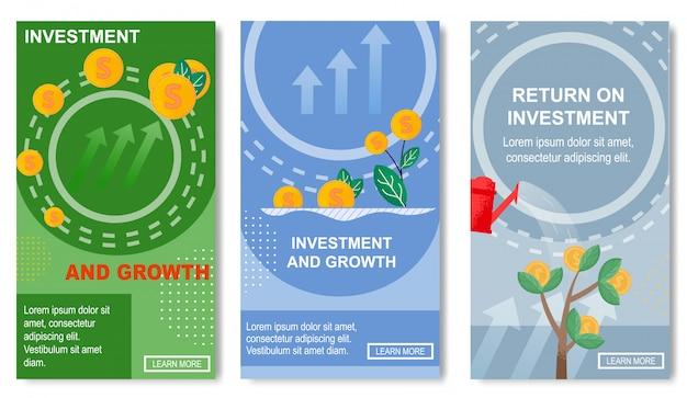 Investimento e crescimento, retorno para mídias sociais.