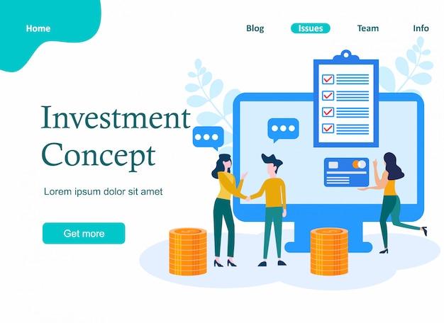 Investimento e finanças virtuais.