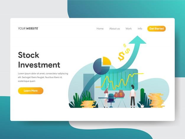 Investimento em ações para a página da web