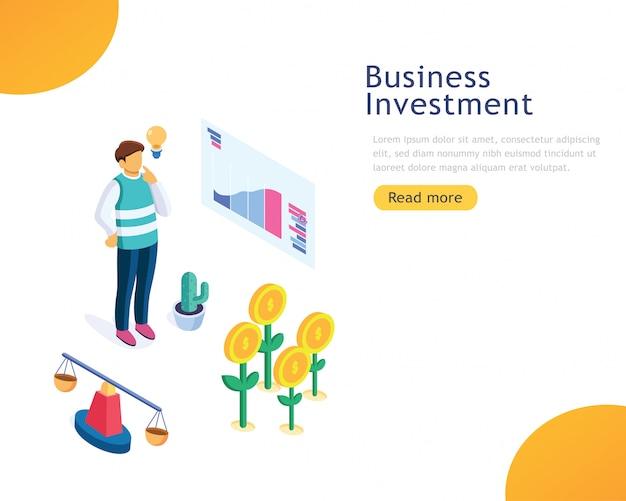 Investimento empresarial modelo de design