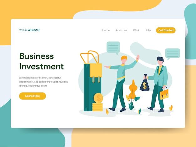 Investimento empresarial para a página do site