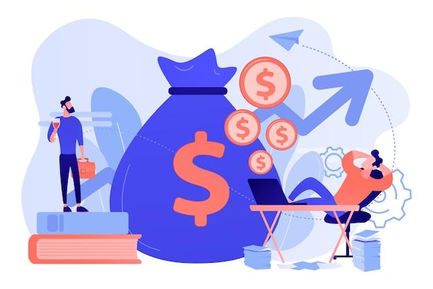 Investimento no mercado de ações, monetização online. trabalho remoto, trabalho freelance Vetor grátis