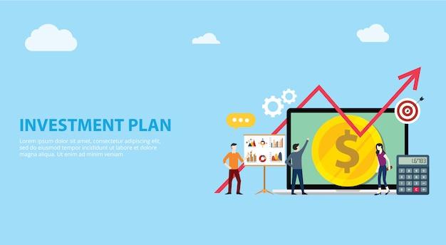 Investimento plano de negócios