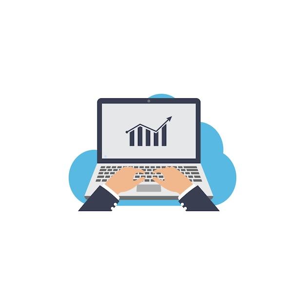 Investindo modelo de clipart de ícones de negócios