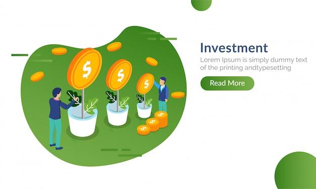 Investir em imóveis conceito.