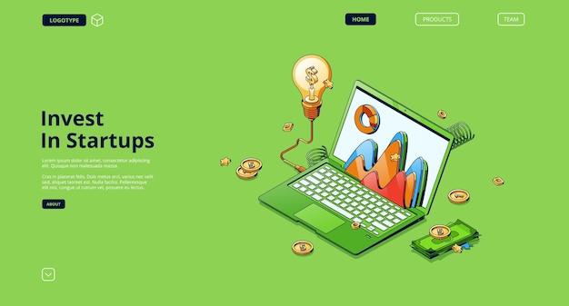 Invista na landing page de startups