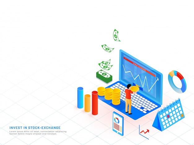 Invista no conceito de bolsa de valores.