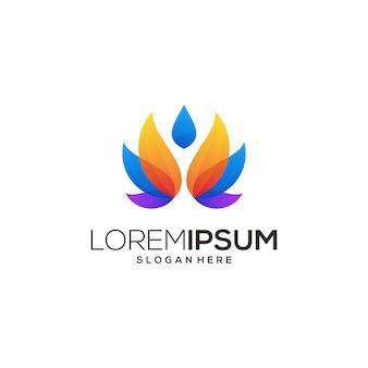 Ioga de ícone de logotipo de lótus