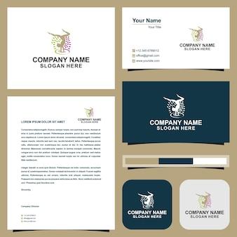 Ioga de logotipo e cartão de visita