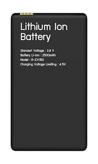 Íon de lítio da bateria do smartphone