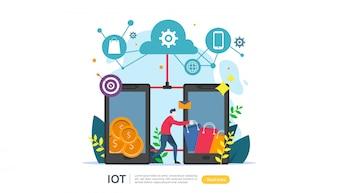 IOT conceito de monitoramento de casa inteligente